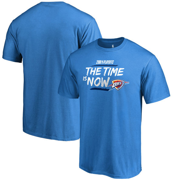 Oklahoma City Thunder Fanatics Branded 2018 NBA Playoffs Bet Slogan T-Shirt Blue