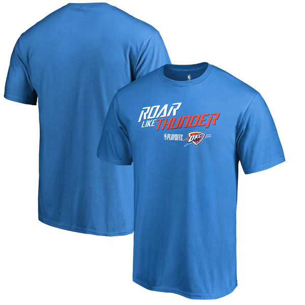 Oklahoma City Thunder Fanatics Branded 2018 NBA Playoffs Slogan T-Shirt Blue
