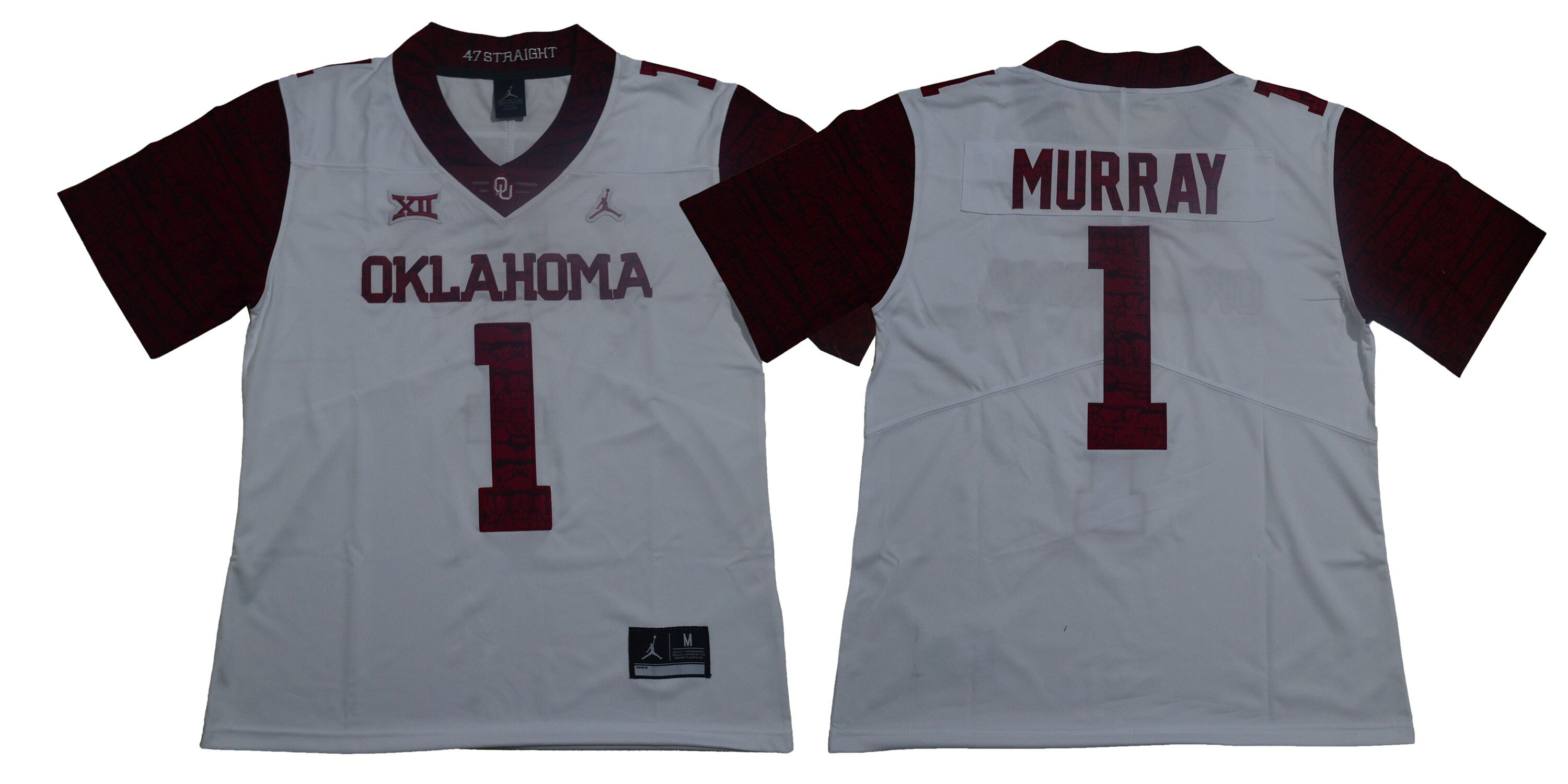 Oklahoma Sooners 1 Kyler Murray White 47 Game Winning Streak College Football Jersey