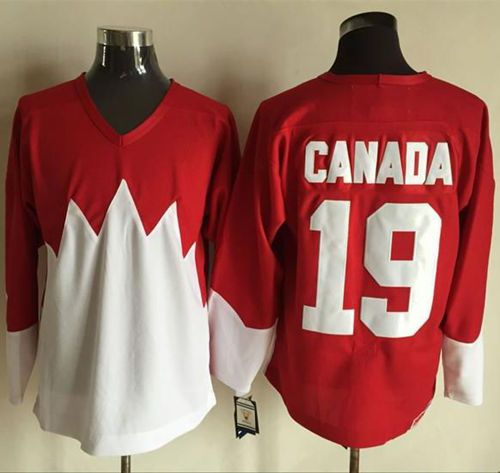 Olympic CA. #19 Canada Red White 1972 Commemorative CCM Stitched NHL Jersey