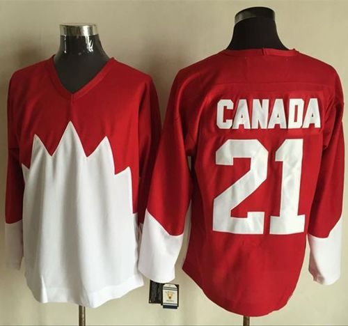 Olympic CA. #21 Canada Red White 1972 Commemorative CCM Stitched NHL Jersey