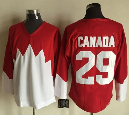Olympic CA. #29 Canada Red White 1972 Commemorative CCM Stitched NHL Jersey
