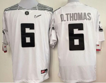 Oregon Ducks #6 De'Anthony Thomas White Diamond Quest Stitched NCAA Jersey