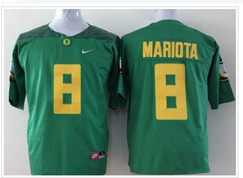 Oregon Ducks #8 Marcus Mariota Green Diamond Quest Stitched NCAA Jersey