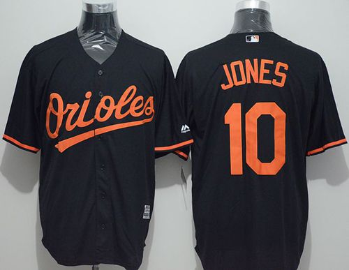 Orioles #10 Adam Jones Black New Cool Base Stitched MLB Jersey