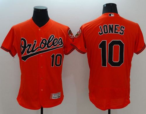 Orioles #10 Adam Jones Orange Flexbase Authentic Collection Stitched MLB Jersey