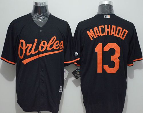 Orioles #13 Manny Machado Black New Cool Base Stitched MLB Jersey