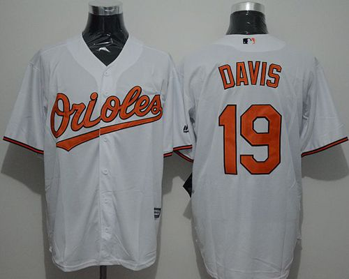 Orioles #19 Chris Davis White New Cool Base Stitched MLB Jersey