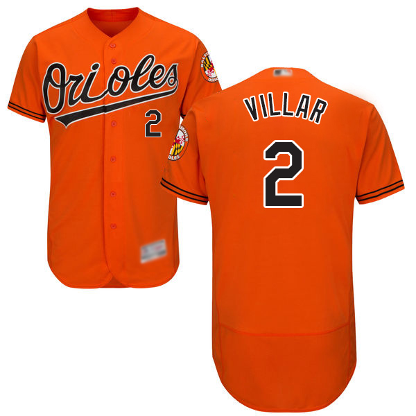 Orioles #2 Jonathan Villar Orange Flexbase Authentic Collection Stitched Baseball Jersey