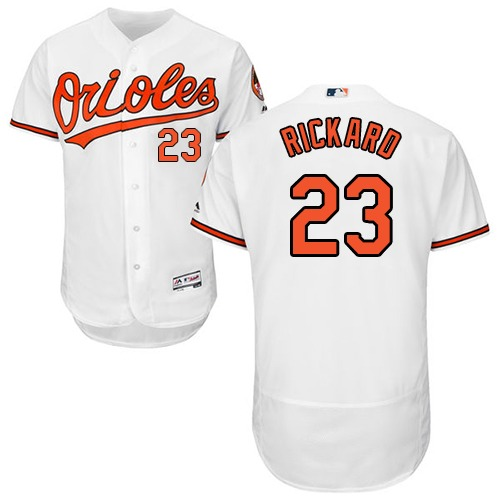 Orioles #23 Joey Rickard White Flexbase Authentic Collection Stitched MLB Jersey