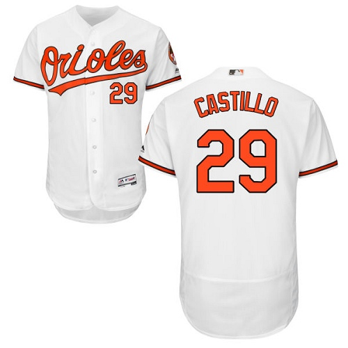 Orioles #29 Welington Castillo White Flexbase Authentic Collection Stitched MLB Jersey