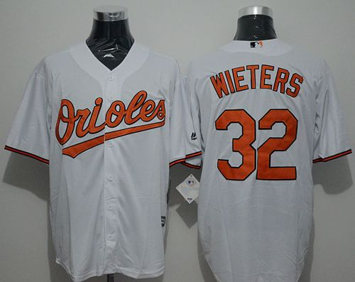 Orioles #32 Matt Wieters White New Cool Base Stitched MLB Jersey