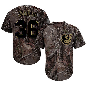Orioles #36 Caleb Joseph Camo Realtree Collection Cool Base Stitched Baseball Jersey