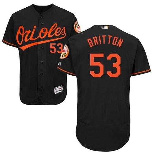 Orioles #53 Zach Britton Black Flexbase Authentic Collection Stitched MLB Jersey