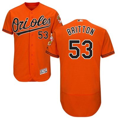 Orioles #53 Zach Britton Orange Flexbase Authentic Collection Stitched MLB Jersey