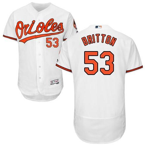 Orioles #53 Zach Britton White Flexbase Authentic Collection Stitched MLB Jersey