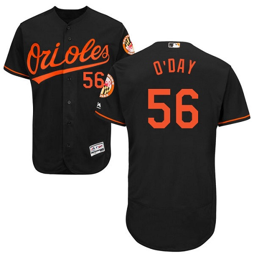 Orioles #56 Darren O'Day Black Flexbase Authentic Collection Stitched MLB Jersey