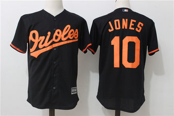 Orioles 10 Adam Jones Black Cool Base Jersey