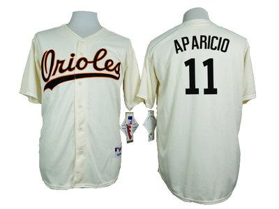 Orioles 11 Luis Aparicio Cream 1954 Turn Back The Clock Throwback Jersey