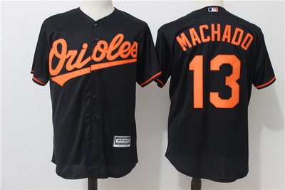 Orioles 13 Manny Machado Black Cool Base Jersey
