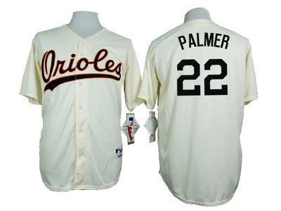 Orioles 22 Jim Palmer Cream 1954 Turn Back The Clock Throwback Jersey