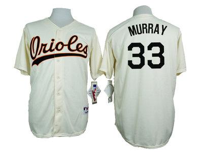 Orioles 33 Eddie Murray Cream 1954 Turn Back The Clock Throwback Jersey