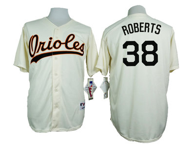 Orioles 38 Brian Roberts Cream 1954 Turn Back The Clock Throwback Jersey