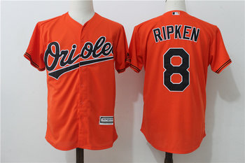 Orioles 8 Cal Ripken Jr. Orange Cool Base Jersey