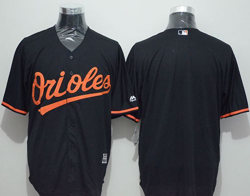 Orioles Blank Black New Cool Base Stitched MLB Jersey