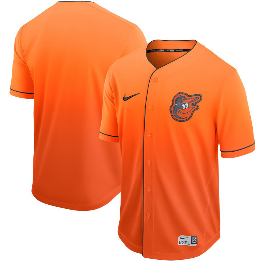 Orioles Blank Orange Drift Fashion Jersey