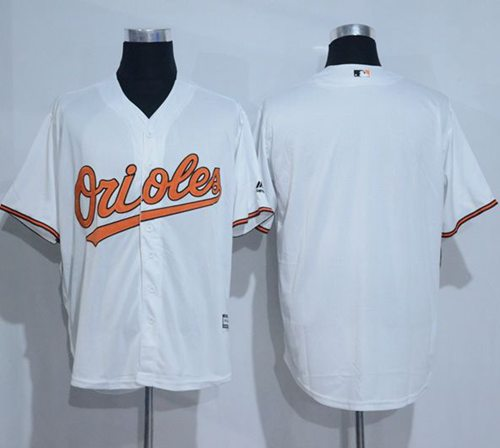 Orioles Blank White New Cool Base Stitched MLB Jersey