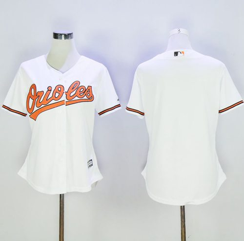 Orioles Blank White Women's Home Stitched MLB Jersey