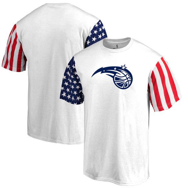 Orlando Magic Fanatics Branded Stars & Stripes T-Shirt White