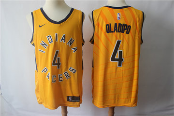 Pacers 4 Victor Oladipo Gold Nike Swingman Jersey