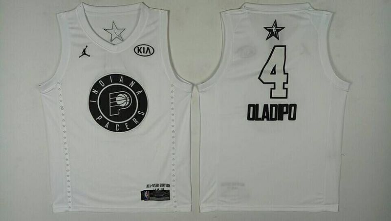 Pacers 4 Victor Oladipo White 2018 All-Star Game Jordan Brand Authentic Jersey