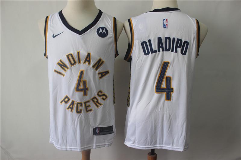 Pacers 4 Victor Oladipo White Nike Swingman Jersey