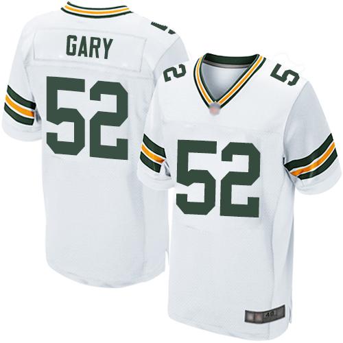 Packers #52 Rashan Gary White Men's Stitched Football Elite Jersey