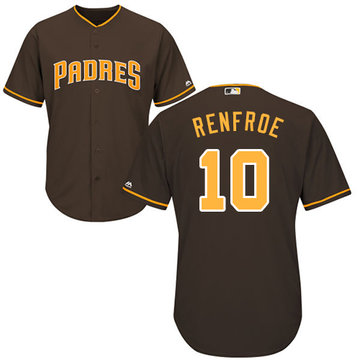 Padres #10 Hunter Renfroe Brown New Cool Base Stitched Baseball Jersey