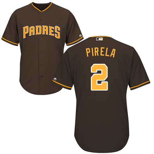 Padres #2 Jose Pirela Brown Cool Base Stitched Youth Baseball Jersey