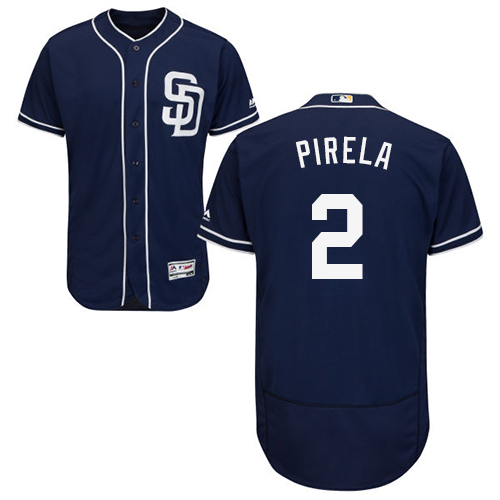 Padres #2 Jose Pirela Navy Blue Flexbase Authentic Collection Stitched Baseball Jersey