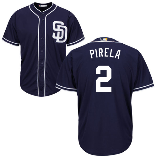 Padres #2 Jose Pirela Navy blue Cool Base Stitched Youth Baseball Jersey