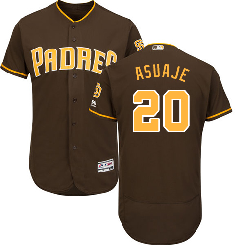 Padres #20 Carlos Asuaje Brown Flexbase Authentic Collection Stitched Baseball Jersey