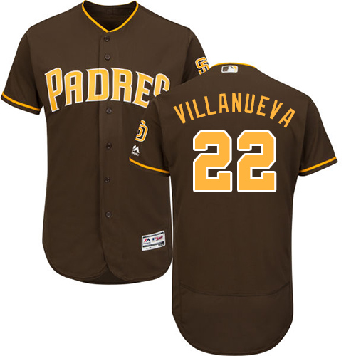 Padres #22 Christian Villanueva Brown Flexbase Authentic Collection Stitched Baseball Jersey