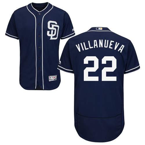 Padres #22 Christian Villanueva Navy Blue Flexbase Authentic Collection Stitched Baseball Jersey