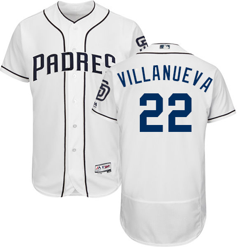 Padres #22 Christian Villanueva White Flexbase Authentic Collection Stitched Baseball Jersey