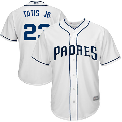 Padres #23 Fernando Tatis Jr. White New Cool Base Stitched Baseball Jersey