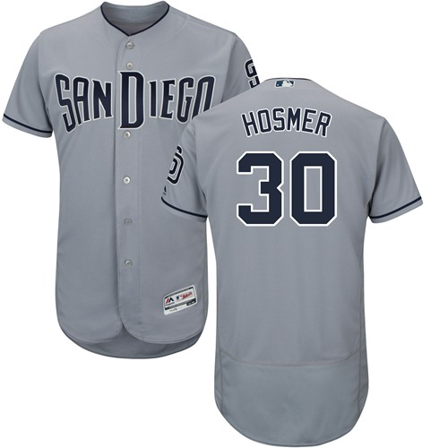 Padres #30 Eric Hosmer Gray Flexbase Authentic Collection Stitched MLB Jersey