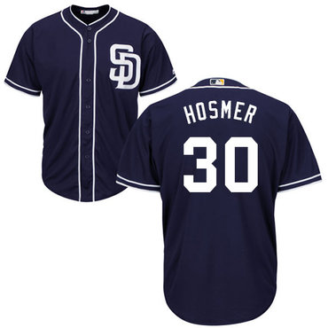Padres #30 Eric Hosmer Navy blue Cool Base Stitched Youth MLB Jersey