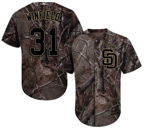 Padres #31 Dave Winfield Camo Realtree Collection Cool Base Stitched Youth Baseball Jersey