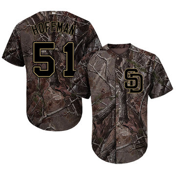 Padres #51 Trevor Hoffman Camo Realtree Collection Cool Base Stitched Baseball Jersey